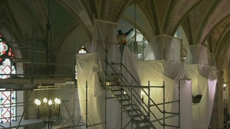 Restoration at Assumption Church continues