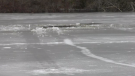 Ice safety highlighted after a skater fell through ice on a Halifax lake. Jonathan MacInnis reports.