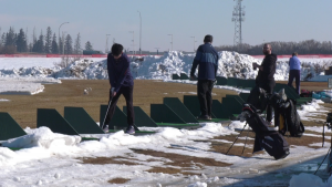 Canada Golf Card driving range on Friday, March 5, 2021. (CTV News Edmonton)