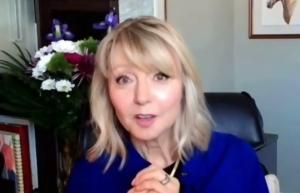 CTV's Jayne Pritchard speaks at a virtual event