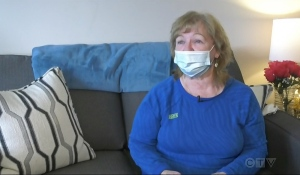 Annette Larabie told CTV News many residents at Christ the King Centre have debilitating health issues and a tough time even getting outside. (Photo from video)