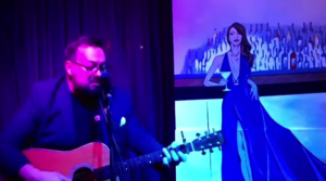 Musician Jesse Parent performs virtually from Lana's Lounge in Waterloo.