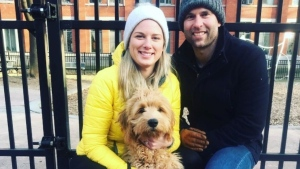Chloe Rodgers and Stirling Martin are offering $20,000 to anyone who can help them find their puppy Marlowe, who they say was stolen. SOURCE: Stirling Martin