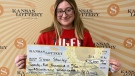 A high school senior has won $25K in her first time playing the Kansas Lottery, four days after turning 18; she hopes it will help her graduate college without debt. (Image: CNN)