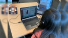 A child learns coding at Code Ninjas in Guelph. (Jessica Smith / CTV Kitchener)
