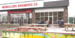 Rebellion Brewing has opened their patio early, due to mild temperatures. (Stefanie Davis/CTV News)
