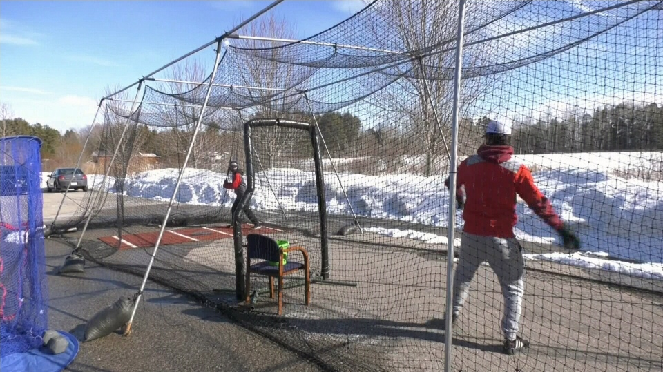 Spring training in the snow