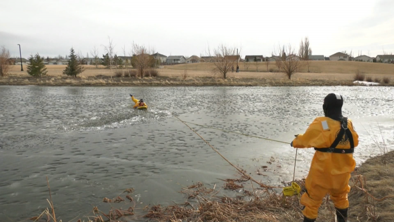 lethbridge ice safety rescue drill