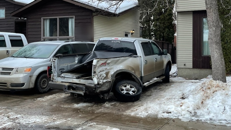 Saskatoon police's traffic unit arrested and charged an impaired driver after a hit and run. (Photo by Saskatoon Police Service)