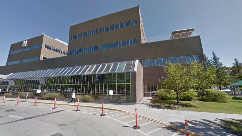 The Edmundston Regional Hospital is shown in this image from Google Maps street view. (Photo: Google Maps)