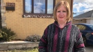 Local nurse, Lisa Halley stands outside her home in Windsor, Ont. Seen on Sunday March 07, 2021 (Angelo Aversa/CTV News)