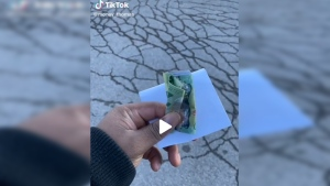 Juwon Thomas is giving back to his community one TikTok video at a time, hiding cash around Waterloo Region for others to find. (@money_thomas / TikTok)