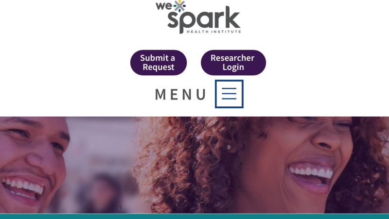 Screenshot: WE-SPARK health institute website
