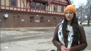 Co-owner Jenna Khan stands where the Beer Can will be setting up this summer. (CTV News/Dan Timmerman)