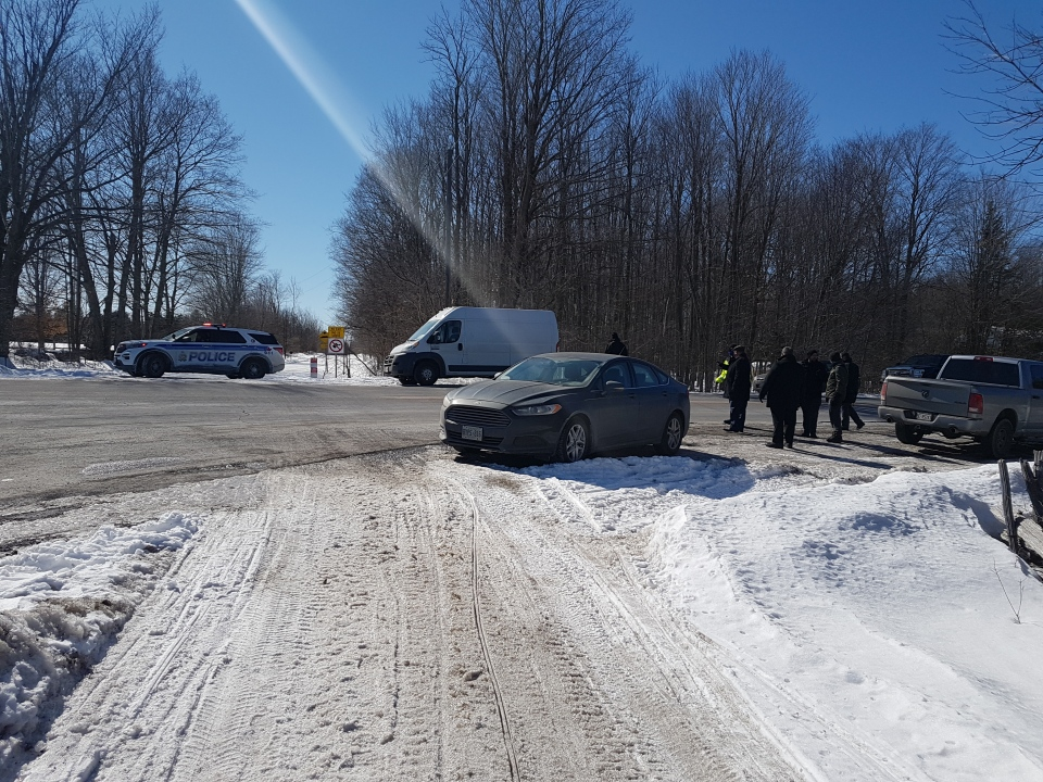 Ottawa police say a passerby discovered a man's body on a snowmobile trail south of Richmond on Sunday, March 7. (Mike Mersereau / CTV News Ottawa)