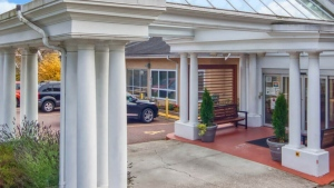 The entrance to Royal City Manor in New Westminster is seen in this photo from the care home's website.