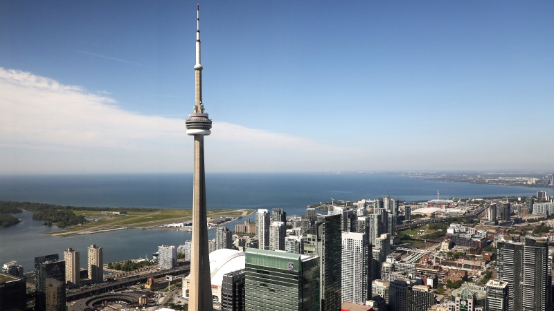 The CN Tower is pictured in Toronto, Wednesday, June 26, 2019. THE CANADIAN PRESS/Colin Perkel