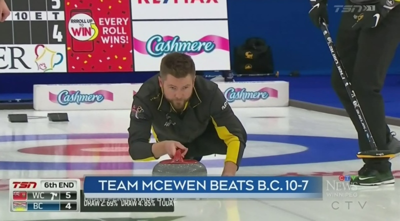 One Manitoba team in action at Brier Sunday