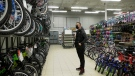 A shopper looks at products at Canadian Tire on March 2, 2021. (Rich Garton / CTV Windsor)