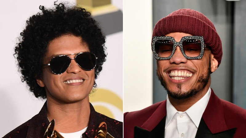 Musician Bruno Mars is hoping to return to the spotlight at the Grammys alongside Anderson .Paak to perform as their new collaborative duo Silk Sonic. (Getty Images via CNN)