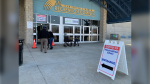 Targeted COVID-19 vaccination clinic for seniors 80 and older opened at the Nature Fresh Farm Complex in Leamington, Ont. on Monday, March 8, 2021. (Bob Bellacicco/CTV Windsor)