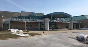 Goff Hall will house a COVID-19 vaccination clinic in Woodstock, Ont. as seen Monday, March 8, 2021. (Brent Lale / CTV News)