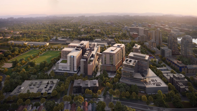 Rendering of the new St. Paul's Hospital. (Providence Health Care)