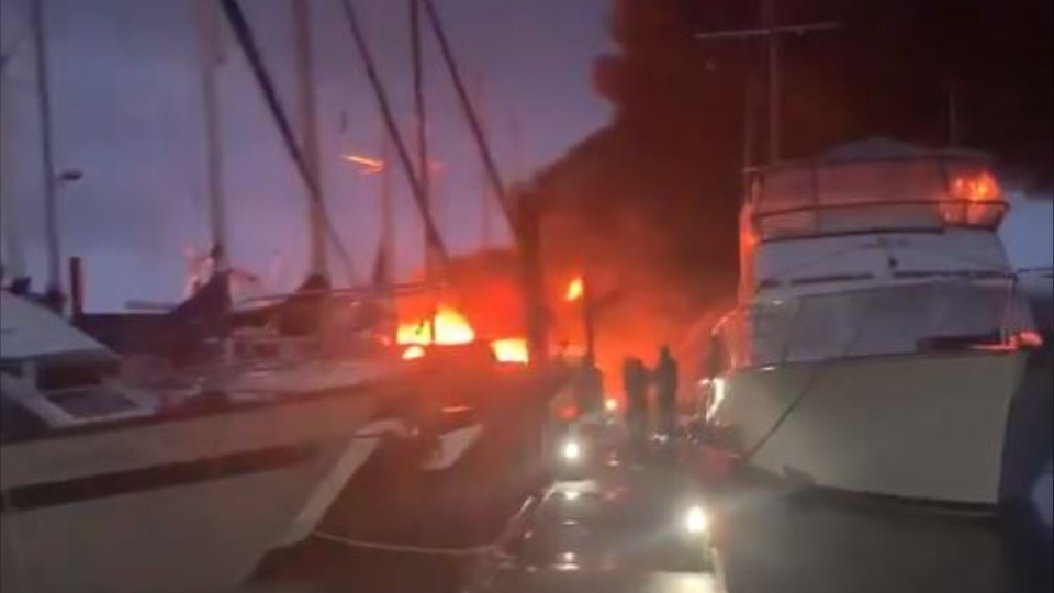 Campbell River boat fire