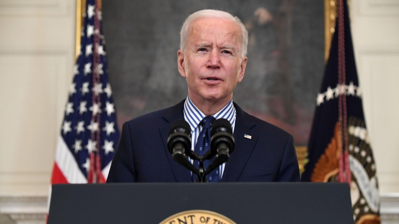 U.S. President Joe Biden will deliver his first primetime address March 11, commemorating the milestone of one year since the global pandemic coronavirus shut down much of the nation. (Saul Loeb/AFP/Getty Images/CNN)