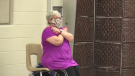 Karen Seguin, 82, in a fitness class at South Gate Centre in Woodstock, Ont. (Brent Lale / CTV News)