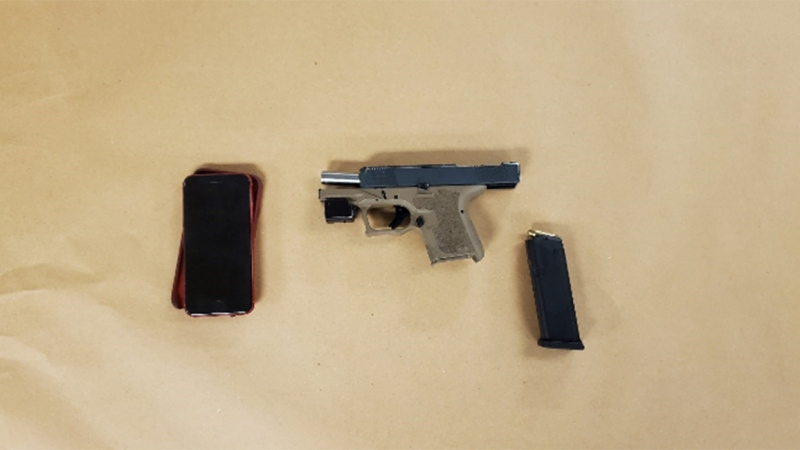 London police seized a handgun after a driver produced the weapon from his vehicle, Saturday March 6, 2021 (Source: London Police Services)
