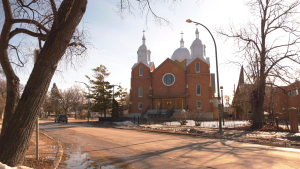 St. Andrews Ukrainian Church on Euclid Avenue is pictured on March 8, 2021. (CTV News Photo Glenn Pismenny)