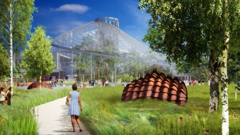 The Leaf, part of the Assiniboine Park's upcoming Diversity Gardens, is pictured in a rendering. (Source: Assiniboine Park Conservancy)
