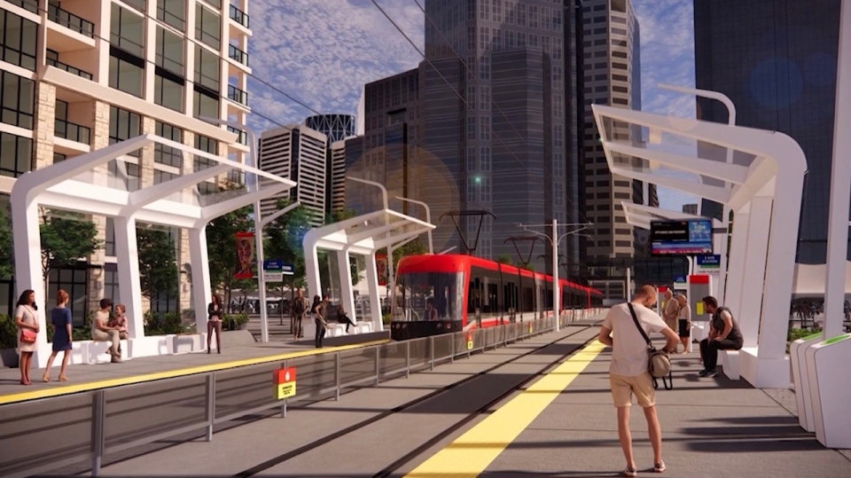A rendering of one of the possible stations (City of Calgary)
