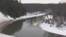 Milder temperatures bring a slow melt to winter this week. March 8, 2021 (Roger Klein/CTV News)