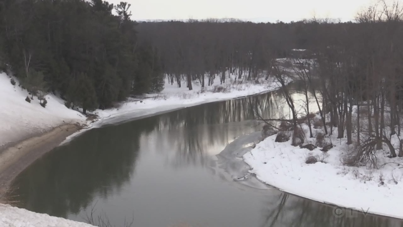 Milder temperatures bring a slow melt to winter this week. March 8, 2021 (Roger Klein/CTV News)