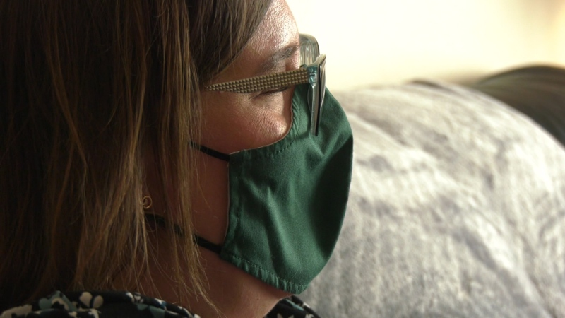 Doctors told Angela Schuurman her cancer diagnosis would normally mean starting chemotherapy treatments quite soon, but her pregnancy means there's another life to consider. (Dave Mitchell/CTV News Edmonton)