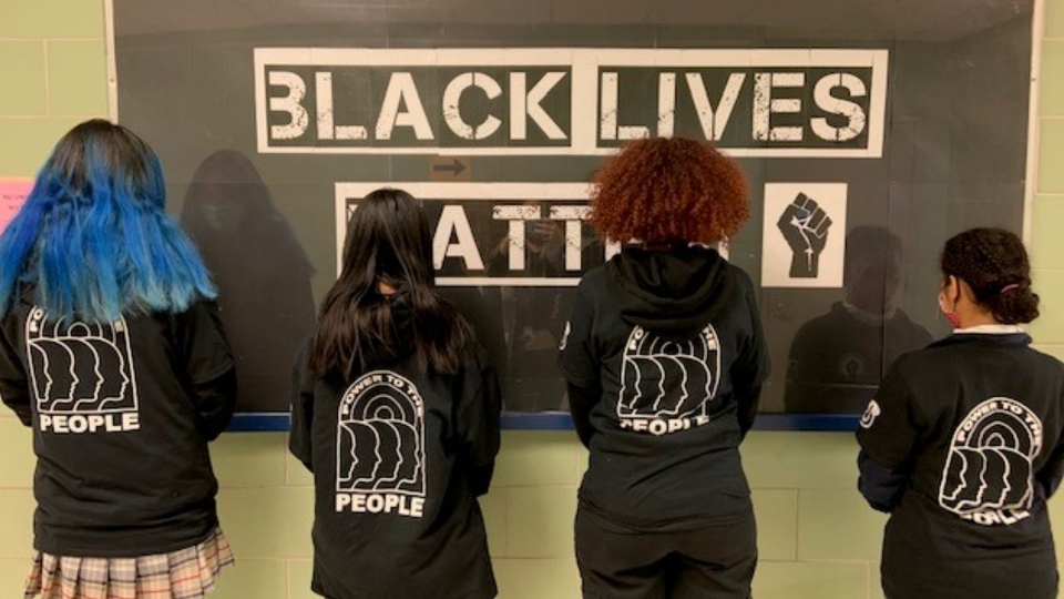 Black Lives Matter shirts Notre Dame HS back
