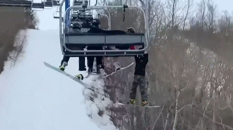 Scary moments at a Sask. ski hill