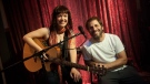 Nanaimo-born musician Allison Crowe is seen with Zack Snyder during the filming of Man of Steel: (Allison Crowe)