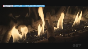 Gas fireplace (Napoleon Products)