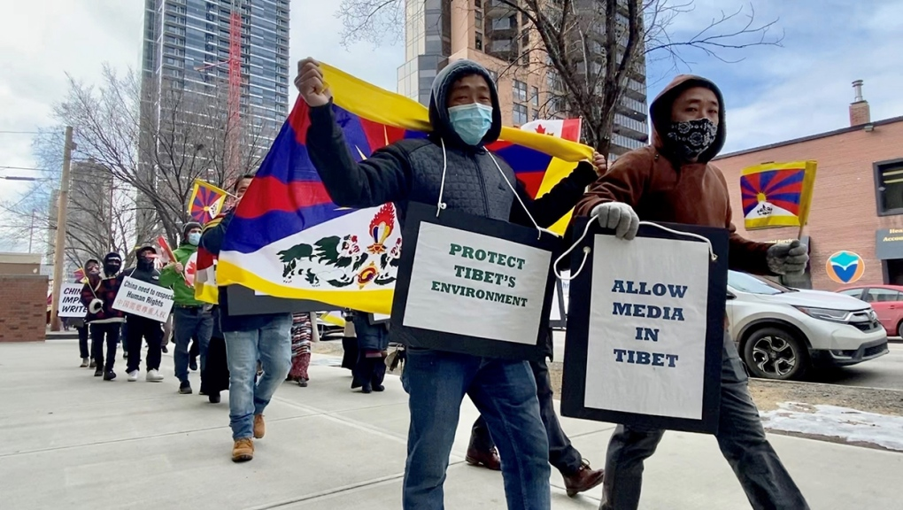 Tibet, march, China, protest