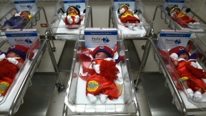 An unprecedented number of twins are being born, researchers said, citing the increase in medically assisted reproduction. (AFP)