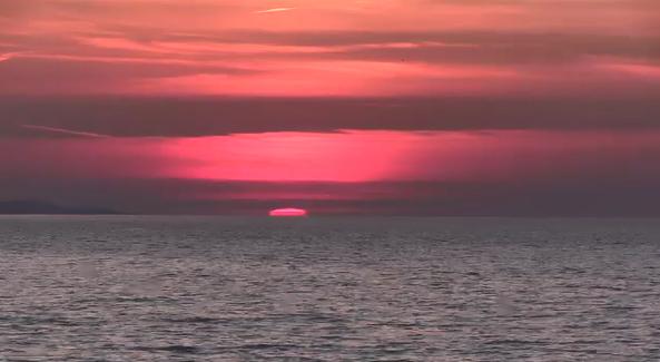 A Port Stanley Sunrise captured by Ann Stevens.