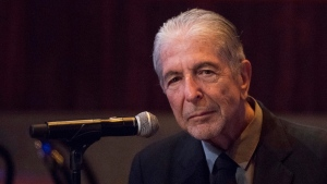 "In this Thursday, Sept 18, 2014, file photo, Leonard Cohen attends a listening party for his new album ""Popular Problems"" in New York. Cohen has earned multiple posthumous Grammy nominations since his death in 2016 and is nominated this year for best folk album with ""Thanks for the Dance,"" his fifteenth and final studio album. (Photo by Charles Sykes/Invision/AP, File)"