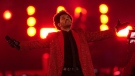The Weeknd performs during the halftime show of the NFL Super Bowl 55 football game between the Kansas City Chiefs and Tampa Bay Buccaneers, Sunday, Feb. 7, 2021, in Tampa, Fla. (AP / Chris O'Meara)