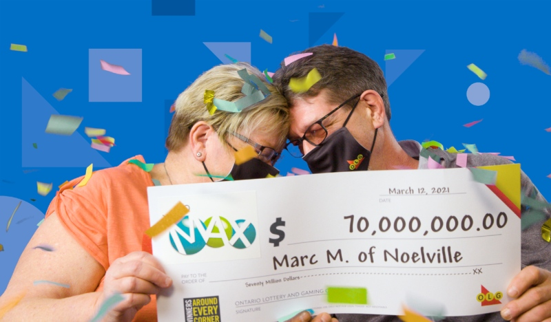 Marc Meilleur, of Noelville, 60, won the top Lotto MAX prize in the Feb. 26 draw. He said he and his wife, Dorothy-Ann have been dedicated lottery players for many years. (Supplied)
