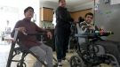 Ahmed, Youseff and Abdullah Khan of London, Ont. on March 15, 2021. (Marek Sutherland/CTV London)
