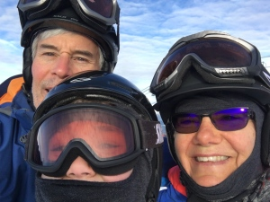 David Francis, 11-year-old Luke Francis and Laurie Head aren't skiing Whistler Blackcomb this year because of  B.C.'S non-essential travel advisory.