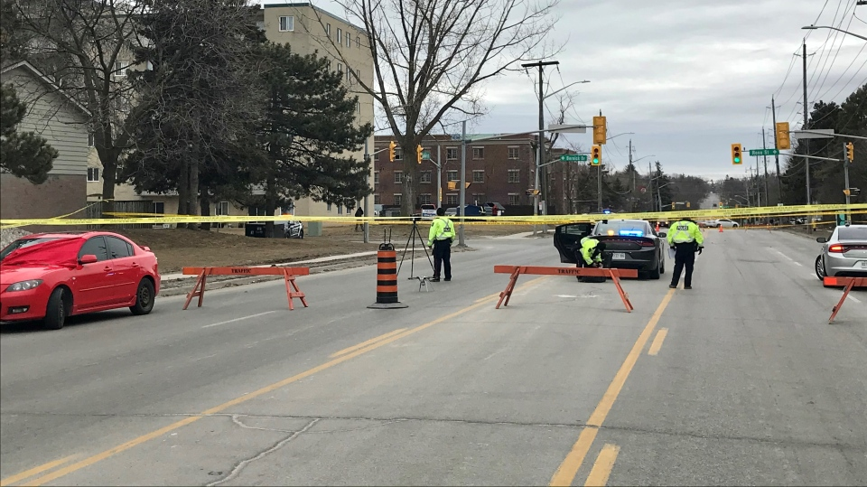 Pedestrian hit in Barrie